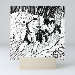 Huskies Mini Art Print