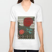 history V-neck T-shirts featuring History layers by Menchulica