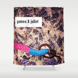 Gumeo & Juliet: A Tale of Two Worms Shower Curtain