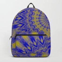 Blue and Gold mandala Backpack