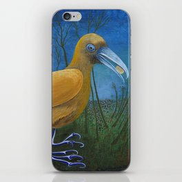 Yellow Bird with Coin iPhone Skin