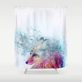 Abstract Pastel Fox Shower Curtain