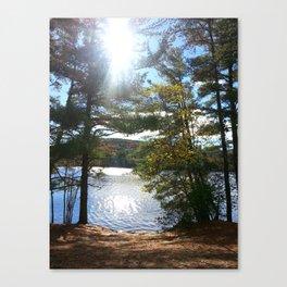 Quiet Lake in Autumn Canvas Print