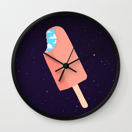 Creamsicle To Another Dimension... (inverted) Wall Clock