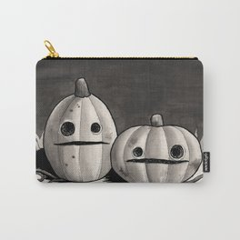 Old Friends - Halloween Pumpkins in Black and Grey Carry-All Pouch