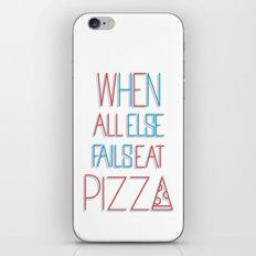 backup plan: pizza iPhone & iPod Skin