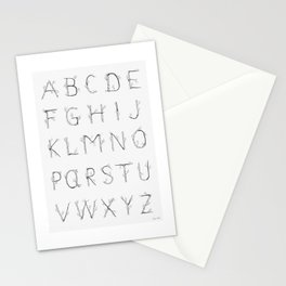 The Birch Alphabet Stationery Cards