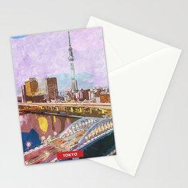 Tokyo city skyline Stationery Cards