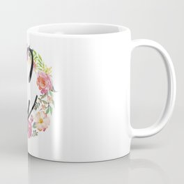 Floral G Monogram Coffee Mug