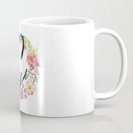 Floral G Monogram Coffee Mug