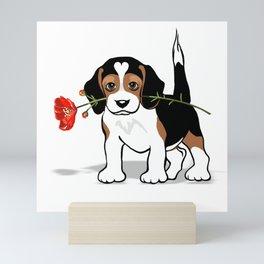 The Love Puppy — Flower Mini Art Print