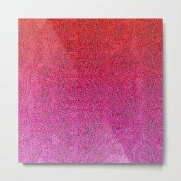 Valentine Glitter Gradient Metal Print