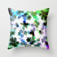 jungle Throw Pillows featuring jungle by Lydia Cheval