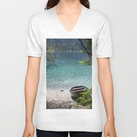 boat V-neck T-shirts featuring Boat by L'Ale shop