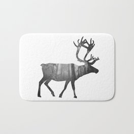 Moose Silhouette | Forest Photography Bath Mat