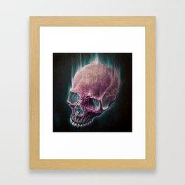 Glow Skull Framed Art Print