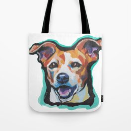 Fun Jack Russell Terrier Portrait bright colorful Dog  Pop Art by LEA Tote Bag