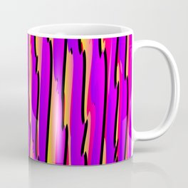 Vertical vivid curved stripes with imitation of the bark of a pink tree trunk. Coffee Mug