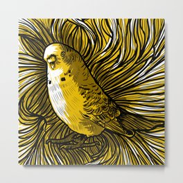 """Yellow  litlle bird "" Metal Print"