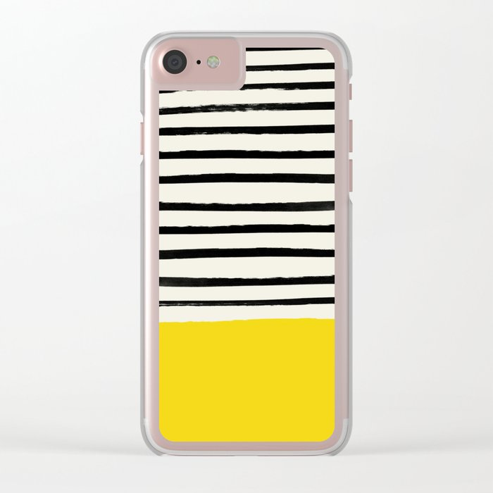 Sunshine x Stripes Clear iPhone Case