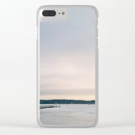Sunset over Frozen Lake Clear iPhone Case