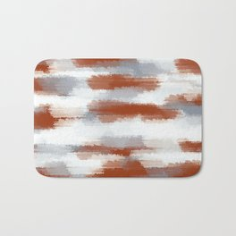 brown and grey painting abstract with white background Bath Mat