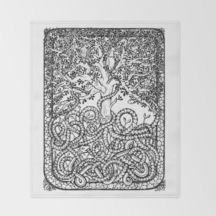 Yggdrasil Throw Blanket