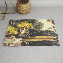 Homosassa Jungle Florida 1904 By WinslowHomer | Reproduction Rug