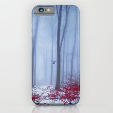 winter forest with birds iPhone 6 Slim Case