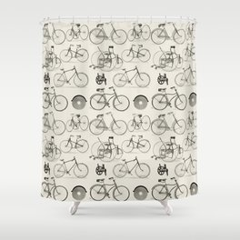 Vintage Bicycles Shower Curtain