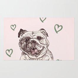 Happy Bulldog Rug