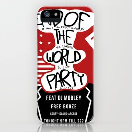 End of the World Party Poster 1 iPhone Case