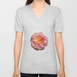 Rose heart / Coeur de rose. Unisex V-Neck