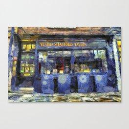 Ye Old Shambles Tavern York Art Canvas Print