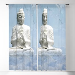 Buddha in Clouds Blackout Curtain