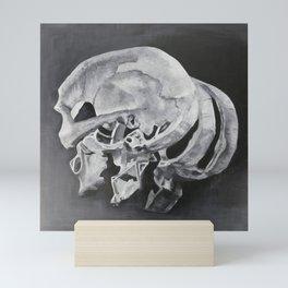 Sliced Skull Mini Art Print