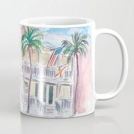 Southard St Square Key West Florida Street Scene Coffee Mug