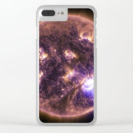 solar flairs Clear iPhone Case
