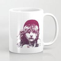 les miserables Mugs featuring Les Miserables Girl by Pop Atelier
