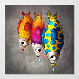 Fish Sale Canvas Print