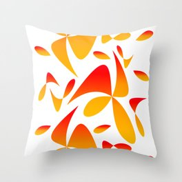 Pattern 160 red yellow Throw Pillow