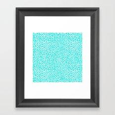 Turquoise Leopard Framed Art Print