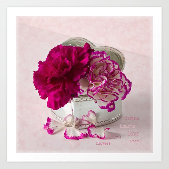 Love flowers Art Print