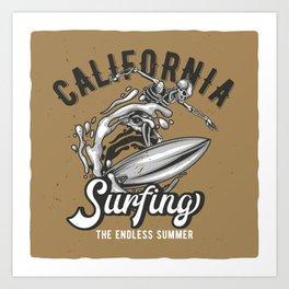 California Surfing Art Print