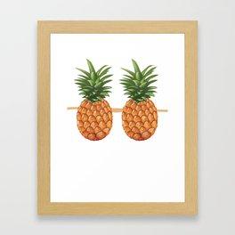 Pineapple Bra Funny Fake Brassiere Lazy Costume Framed Art Print