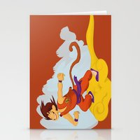 dragonball Stationery Cards featuring DragonBall: Goku and Nimbus by Michelle Rakar