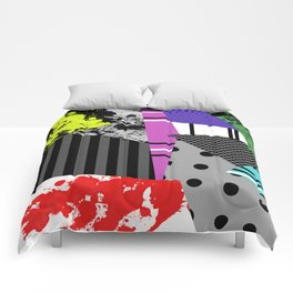 Pick A pattern II - geometric, textured, colourful, splatter, stripes, marble, polka dot, grid Comforters