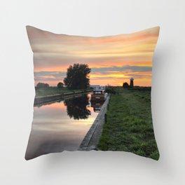 West Somerton Sunset Throw Pillow