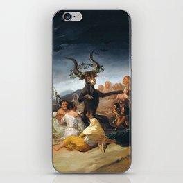 Witches Sabbath by Francisco Goya (1798) iPhone Skin