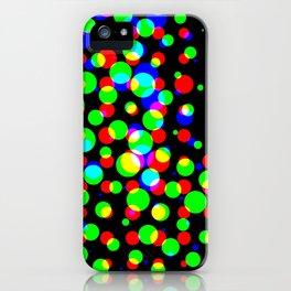 Simple multicolor halftone background iPhone Case